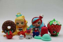 10 psc Shopkins Action Figures. Mixed Toy Lot.