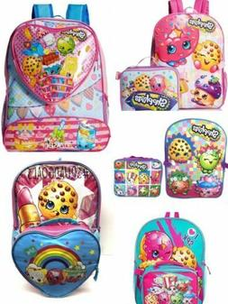 "Shopkins 16"" School Backpack with Lunch Box Combo Set"