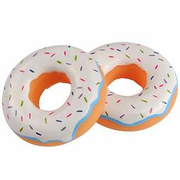 12 frosted donut party favors - vinyl - 3 inch -Great for Sh