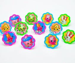 12 PCS Shopkins Cupcake Cake Decorating Supplies Topper Pops