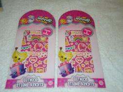 2 packs shopkins scented stickers