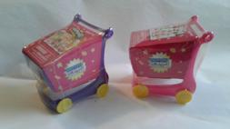 2 Shopkins Shopping cart puzzle & character included Great f