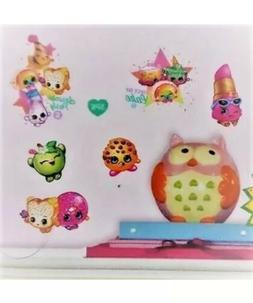 2 SHOPKINS Wall Decals HEART Room Decor Stickers Lips Cake A