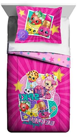 Shopkins New 2018 Design 6pc Twin Comforter and Sheet Set Be