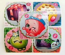 25 Shopkins Stickers Party Favors Teacher Supply Food Fun Bi