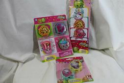 Shopkins 3 pc lot stationery erasers memo sheets