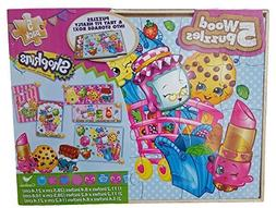 Shopkins 5 Wood Puzzles Set