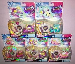 5x Shopkins COLOR CHANGE FANTASY CUTIE CARS  **NEW RELEASES*