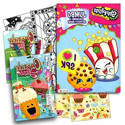 Shopkins 96 Page Coloring Book with Cupcake Land Coloring Fu