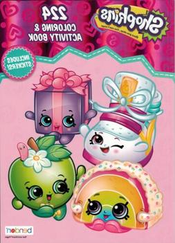 NEW Shopkins 224-Page Coloring and Activity Book with Sticke