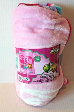 Shopkins Pink BFF Plush Throw Blanket Super Soft Micro-Fleec