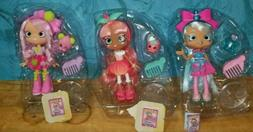 ALL SHOPKIN DOLLS JASCENTA, SUMMER PEACH, POMMIE NEW WITHOUT