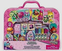 Shopkins Art & Stamp Set Carry Case w Stamper Ink Stickers M