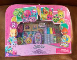 Shopkins Art & Stamp Set With Carry Case Stampers Stickers I