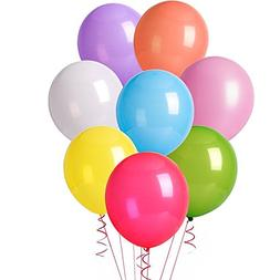 MESHA 12 Inches Assorted Color Party Balloons  - USA SELLER