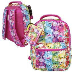 "Shopkins 16"" Backpack with Zipper Case, New"