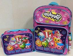 SHOPKINS BACKPACK & LUNCH BOX SET! BESTIES FOR LIFE PURPLE L