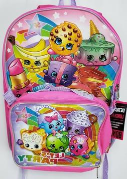 Best Shopkins For Girls Backpack School with Lunch Pack Ligh