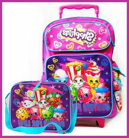 """Shopkins Besties for Life School 16"""" inches Rolling Backpack"""