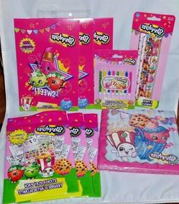 Shopkins Birthday Bundle Inc Candles, Pencils, Napkins, Stic