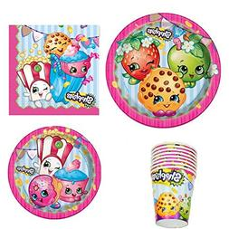 Shopkins Birthday Party Supply Set for 16: Dinner Plates, De