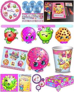 SHOPKINS BIRTHDAY PARTY Table cover Banner Loot Bags Plates