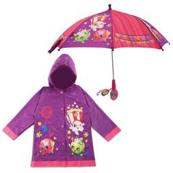 Shopkins Character Slicker and Umbrella Rainwear Set, Little