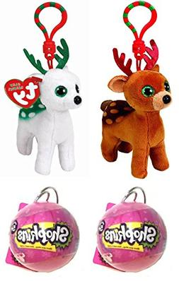 Christmas Gift Bundle! Ty Beanie Babies Tinsel & Peppermint