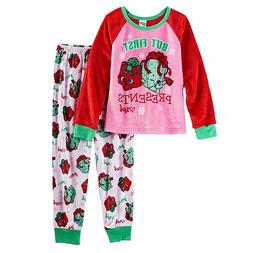 Shopkins CHRISTMAS Pajamas Girls Size 8-10-12 Top/Shirt/Pant