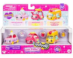 Shopkins Cutie Car 3 Pack Collections, Die Cast Collectible