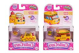 Shopkins Cutie Cars Bundle - Bumpy Burger 20 and Hotdog Hotr