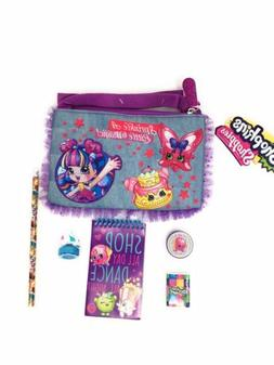 Shopkins Denim Purse With Zipper With Pencil Pad Eraser Ink