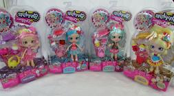 SHOPKINS SHOPPIES Doll Set Peppa-Mint Jessicake Bubbleisha P