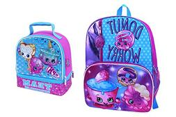 Shopkins Donut Cupcake Backpack and Lunch Box Set Two Piece