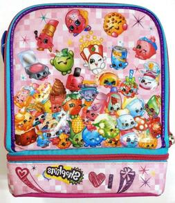 Shopkins Dual Compartment Insulated Pink Lunch Bag