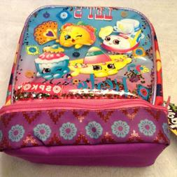 Shopkins Dual Compartment Lunch Bag For Kids Pink/Turquoise