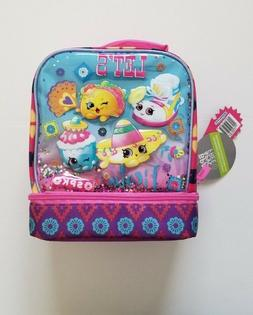 Shopkins Dual Compartment Lunch Bag - Pink/Turquoise New W/T