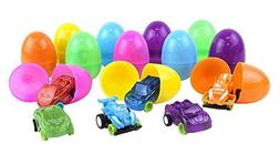 Kangaroo's Easter Eggs with Toy Cars Inside