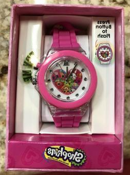 Shopkins Girl's Pink Digital Watch with Light Up