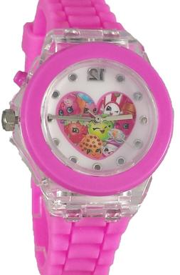 Shopkins Girl's Pink Digital Watch with Light Up Feature KIN