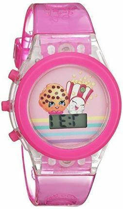 Shopkins Girl's Quartz Plastic Casual Watch, Color:Pink