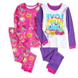 girls cotton tight fit pajama 4 piece