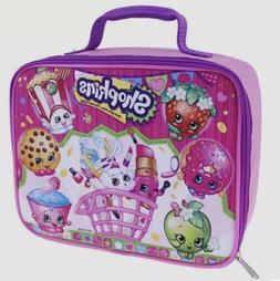 Shopkins Girls Insulated School Lunch Box Pink Party Basket