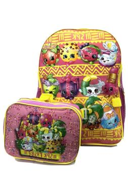Shopkins Girls School Backpack With Lunch Box Combo Set