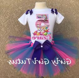Girls Shopkins Personalized Custom Birthday Tutu Outfit Part