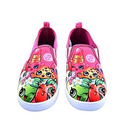 Shopkins Girls Slip-on Canvas Shoes, Size 2