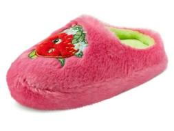 Shopkins Girls Slip On Graphic Strawberry Kiss Slippers Plus