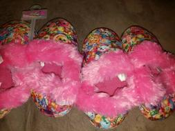 SHOPKINS GIRLS SLIPPERS Pink and Multi NWT sizes 13 and 3 NW