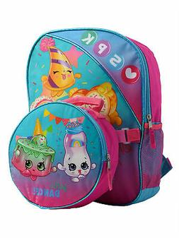 """Girls Shopkins Sprinkle Party  Backpack 16"""" & Insulated Lunc"""
