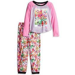 "Shopkins Little Girls' ""Winking Characters"" 2-Piece Pajamas"